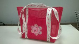 Monogrammed Screen Beach Tote - Stafford @ Bonny's Stafford | Stafford | Virginia | United States